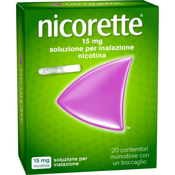 Nicorette Soluzione per Inalazione 20 Contenitori Monodose 15mg