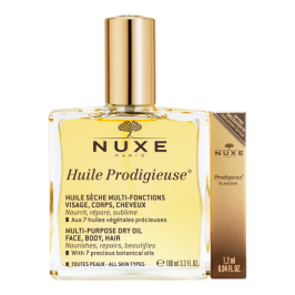 Nuxe Huile Prodigieuse - Olio prodigioso Secco 100 ml + Profumo Prodigieuse omaggio