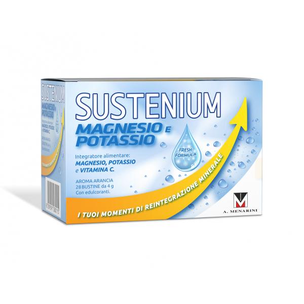 Sustenium Magnesio e Potassio - Integratore per stanchezza ed affaticamento - 28 bustine