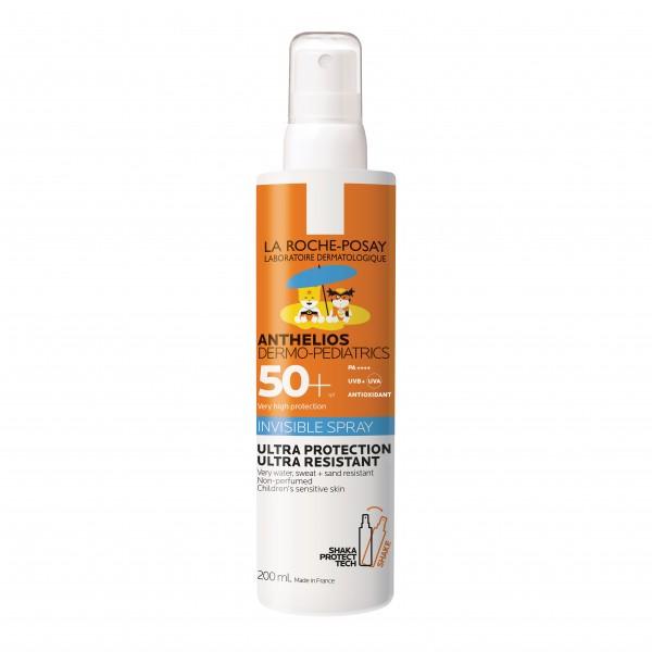 Anthelios Dermo-Pediatrics Spray Invisibile SPF 50+ - Protezione Solare Resistente all'acqua - 200 ml