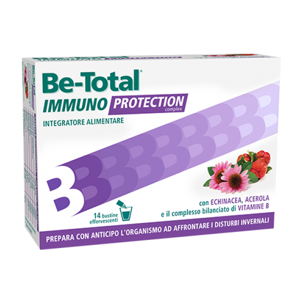 BeTotal Immuno Protection - Integratore alimentare per supportare le difese immunitarie - 14 bustine