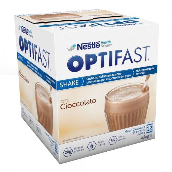 Optifast Shake Cioccolato Pasto Sostitutivo Completo 12 Bustine da 53 g