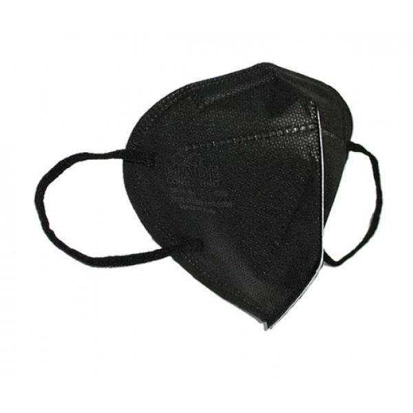 Mascherina FFP2 Nera Siria 20 - Dispositivo filtrante non riutilizzabile - Colore nero - 1 pezzo