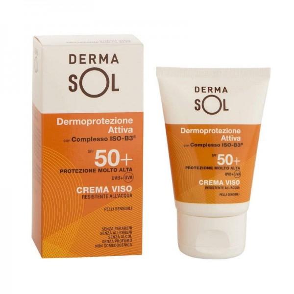 Dermasol Crema Viso SPF50+ - Protezione solare molto alta resistente all'acqua - 50 ml