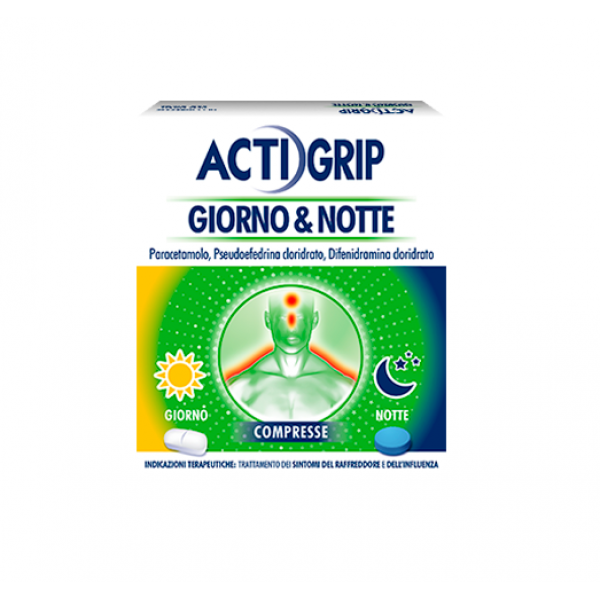 Actigrip Giorno & Notte 12+4 compres...