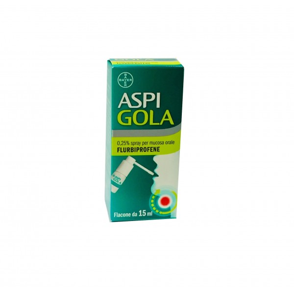Aspi Gola Spray Gola Anti-infiammatorio 15 ml 0,25%