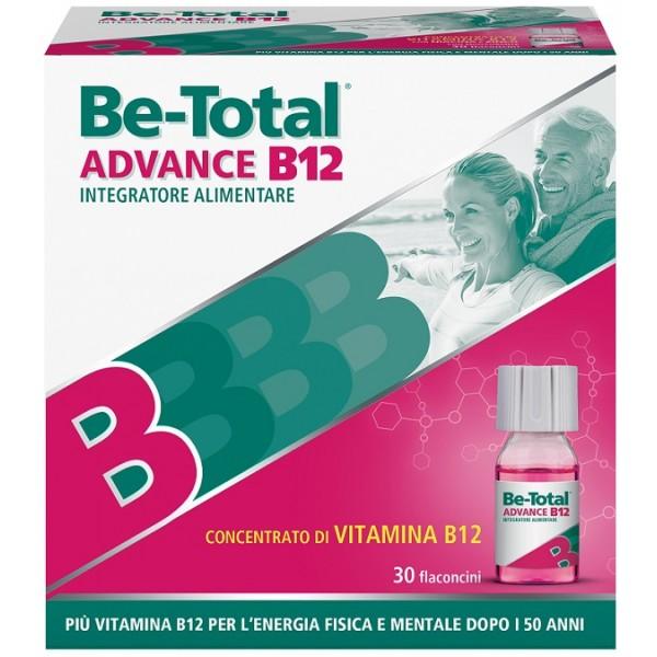 BeTotal Advance B12 - Integratore alimentare per stanchezza fisica e mentale - 30 flaconcini