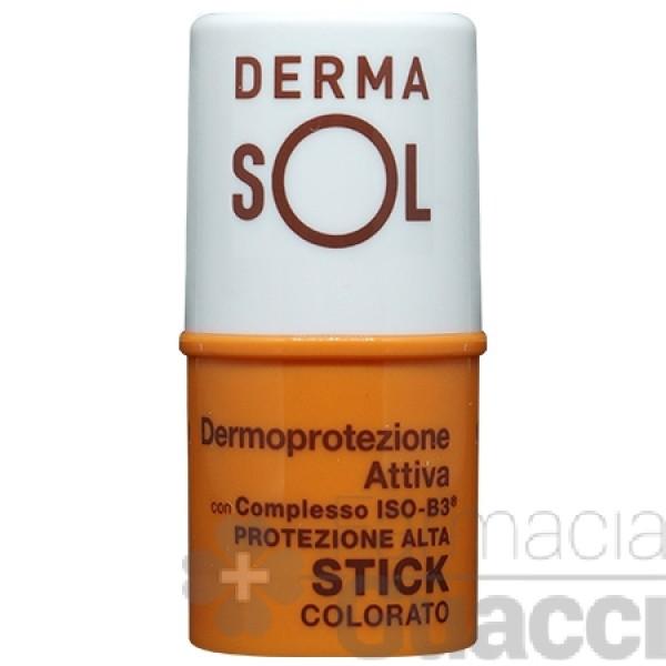 Dermasol Solare Stick Labbra Colorato Protezione Alta 4 ml