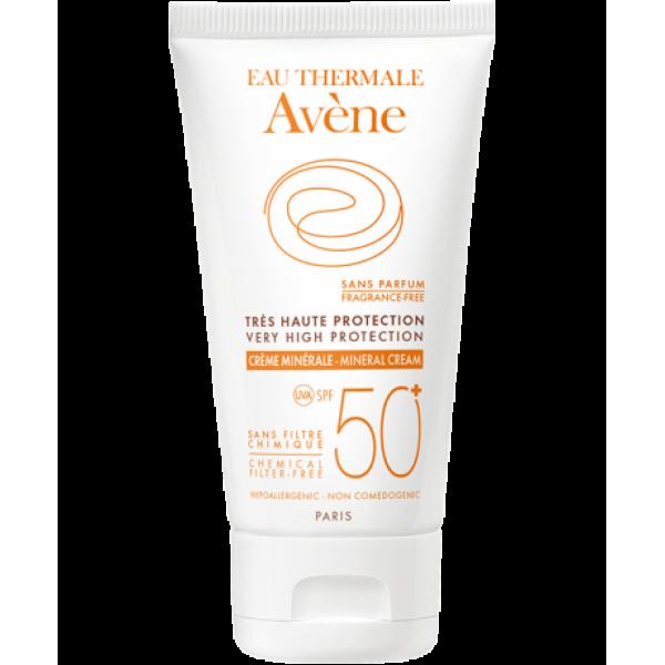 Eau Thermale Avene Crema Schermo Minerale SPF 50+ Protezione Solare Molto Alta 50 ml
