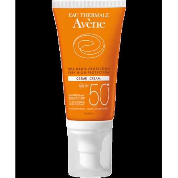 Eau Thermale Avene Solaire Crema Viso SPF 50+ Protezione Solare Molto Alta 50 ml