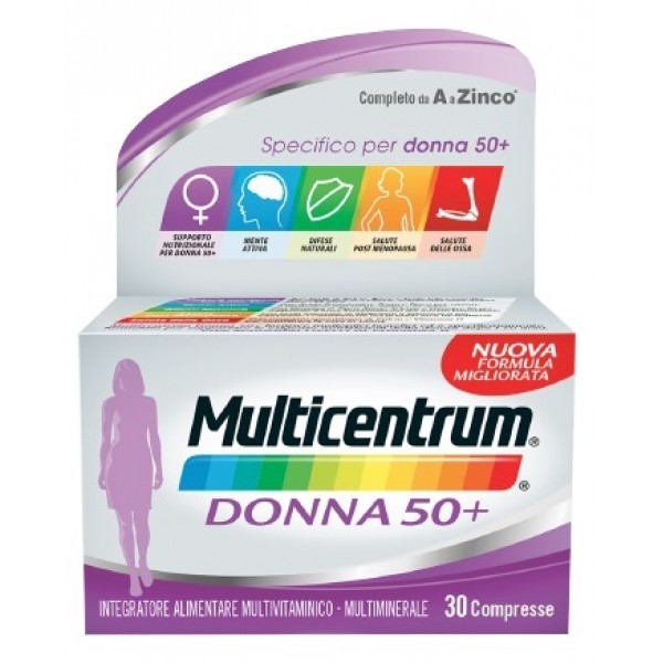 Multicentrum Donna 50+ 90 compresse Nuov...