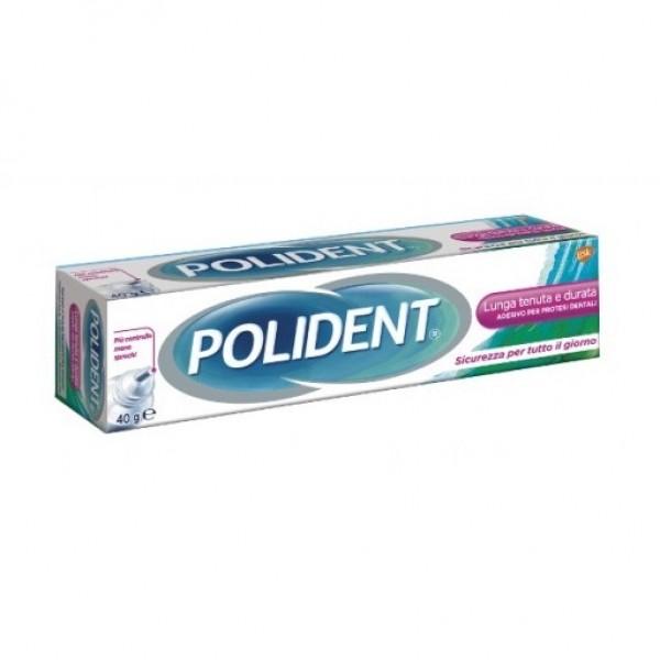 Polident Imbattibile Lunga Tenuta e Durata Adesivo per Dentiere 40 g