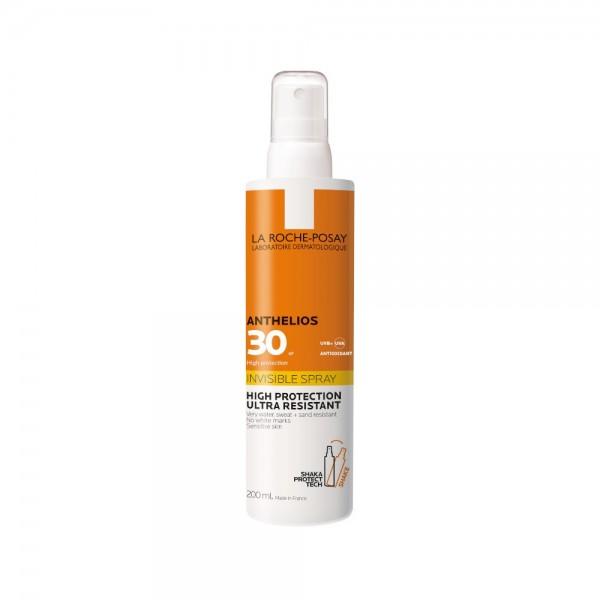 Anthelios Spray Invisibile SPF30 Shaka Protect Tech - Ultra resistente all'acqua - 200 ml