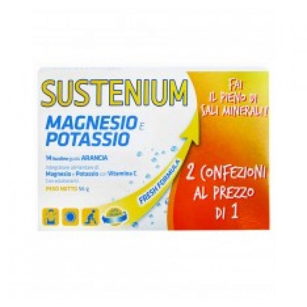 Sustenium Magnesio e Potassio 28 Bustine (14 bustine + 14 omaggio)
