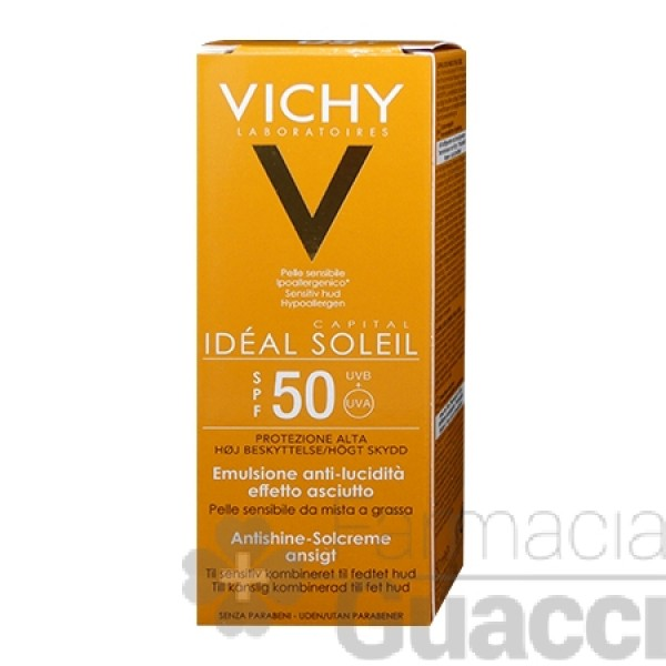Ideal Soleil Crema viso Dry Touch SPF 50...