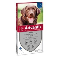Advantix Spot-On per Cani da 25 a 40 Kg - Pipette antiparassitarie - 4 Pipette monodose da 4 ml