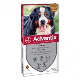 Advantix Spot-On per Cani da 40 a 60 Kg - Pipette antiparassitarie - 4 Pipette monodose da 6 ml