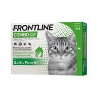 Frontline Combo Gatti - Pipette antiparassitarie - 3 Pipette monodose da 0,5 ml