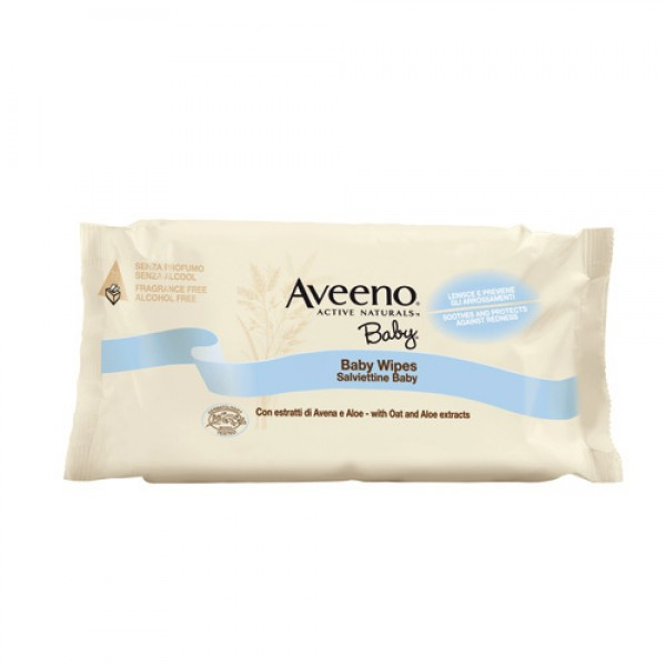 Aveeno Baby Wipes 72 Salviettine