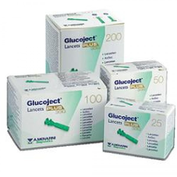 Glucoject Lancets Plus G33 25 lancette p...