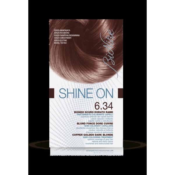 Shine On Tintura Capelli Colore Biondo Scuro Dorato Ramato 6.34