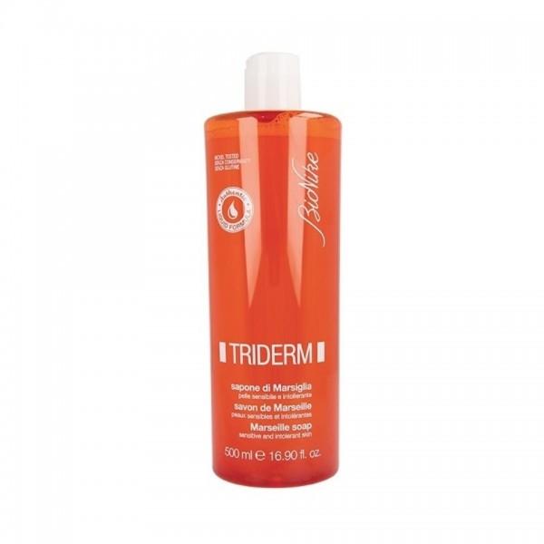 Triderm Sapone di Marsiglia - Detergente per mani, viso e corpo per pelli sensibili - 500 ml
