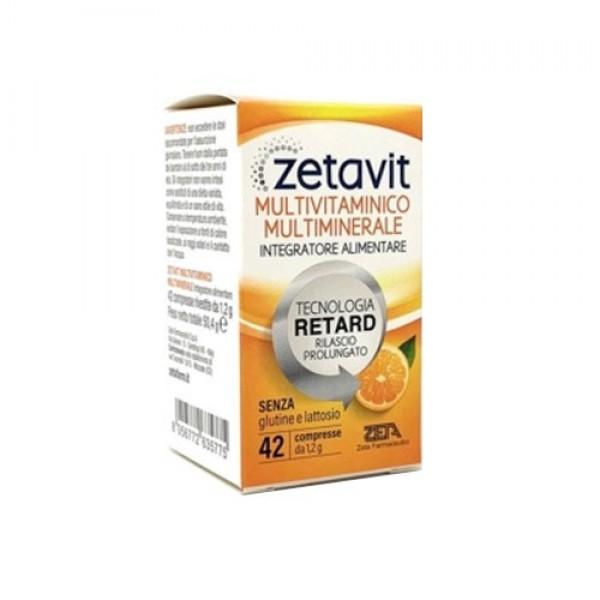 Zetavit Multivitaminico Multiminerale - Integratore alimentare a base di vitamine e minerali - 42 compresse