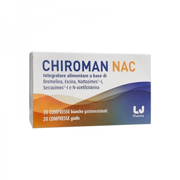 Chiroman Nac 20 Compresse Bianche + 20 Compresse Gialle