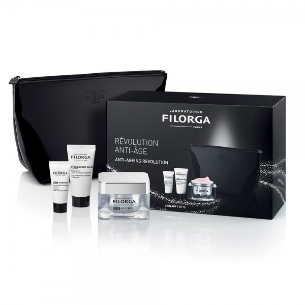 Filorga Cofanetto Luxury Revolution Anti-Age - Crema Ncef-Reverse 50 ml + Siero Ncef-Intensive 7 ml + Maschera Ncef-Night 15 ml