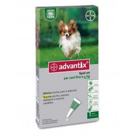 Advantix Spot-On per Cani fino a 4 Kg - Pipette antiparassitarie - 1 pipetta da 0,4 ml