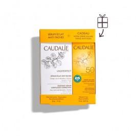 Caudalie Cofanetto Vinoperfect Siero Illuminante Anti-macchie 30 ml + Crema Solare Viso Antirughe SPF 50+ 25 ml