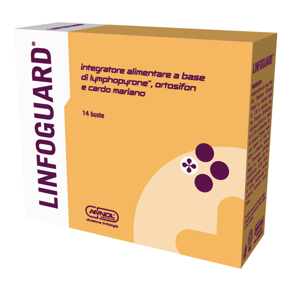 Linfoguard - Integratore alimentare drenante e depurativo - 14 bustine