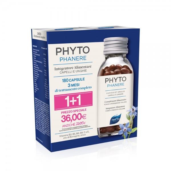 Phyto Phytophanere Capelli e Unghie 180 capsule (90+90) Trattamento 3 mesi