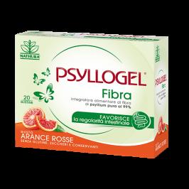 Psyllogel Fibra - Integratore per la regolarità intestinale - Gusto Arance Rosse - 20 bustine