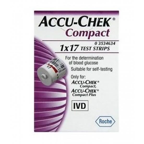 Accu-chek Compact 17 Strisce per Glicemi...