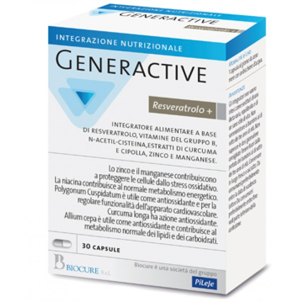 GENERACTIVE+Resveratrolo+30Cps
