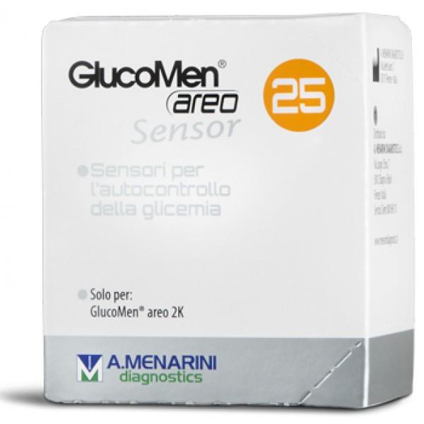 GLUCOMEN Areo Sensor 25 Strisce per Glic...