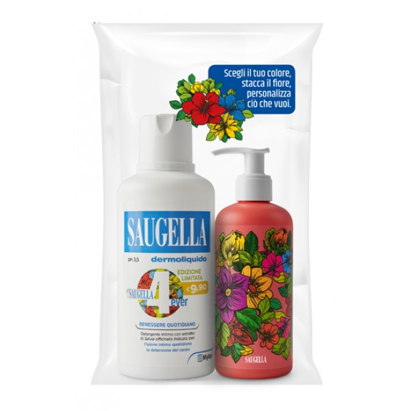 Saugella Dermoliquido Detergente Intimo pH 3,5  + Erogatore Decorato 150 ml