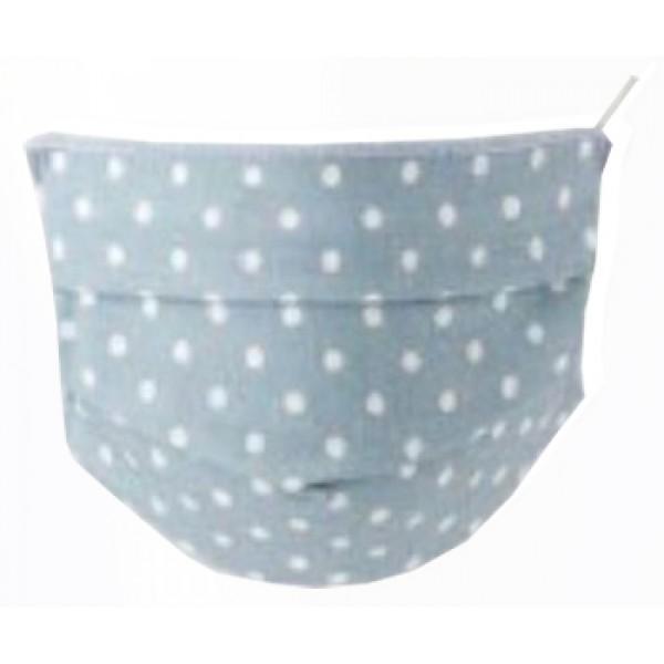Mascherina Lavabile Baby in TNT - Set 2 pezzi in cotone ipoallergenico - Colore Pois Azzurro