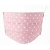 Mascherina Lavabile Baby in TNT - Set 2 pezzi in cotone ipoallergenico - Colore Pois Rosa