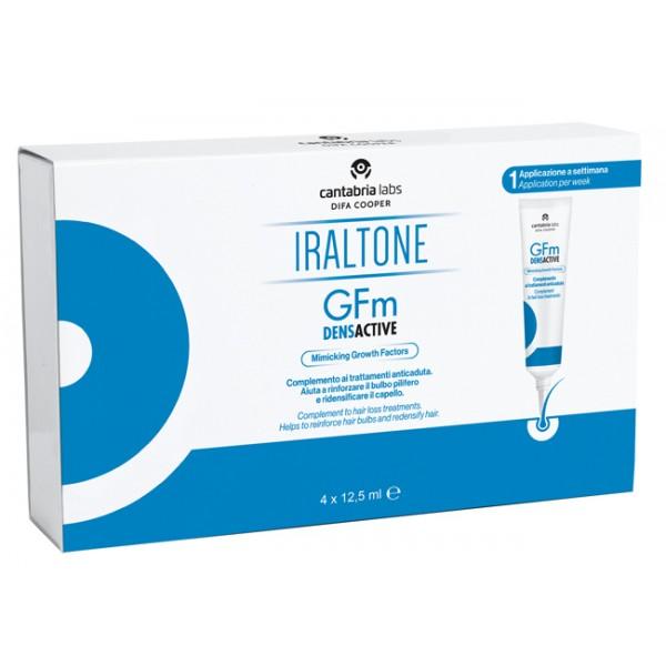 GFM Densactive Gel - Trattamento anticaduta rinforzante e ridensificante per capelli - 4 flaconi da 12,5 ml