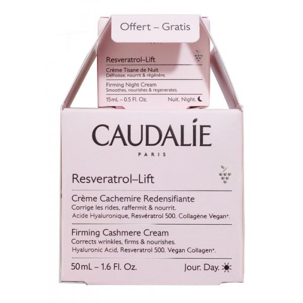 Caudalie Cofanetto Resveratrol Lift - Crema Cachemire Ridensificante 50 ml + Crema Tisana della Notte 15 ml