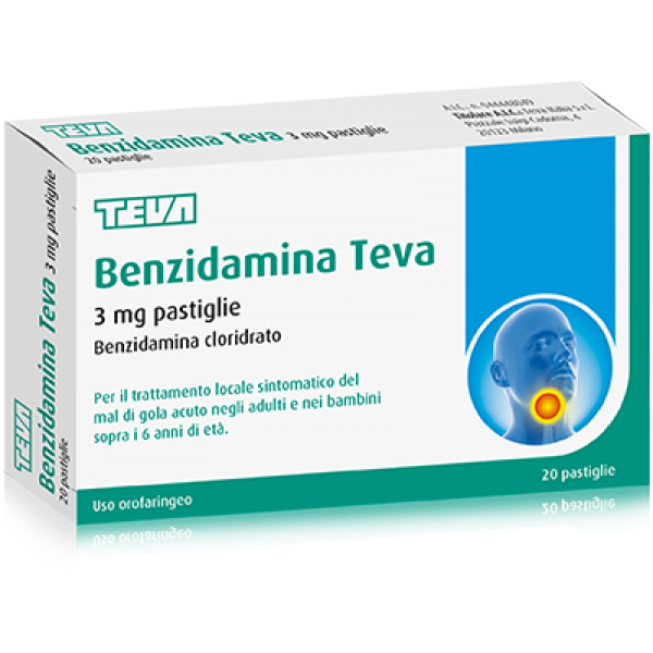 BENZIDAMINA 3mg 20 Past.TEVA