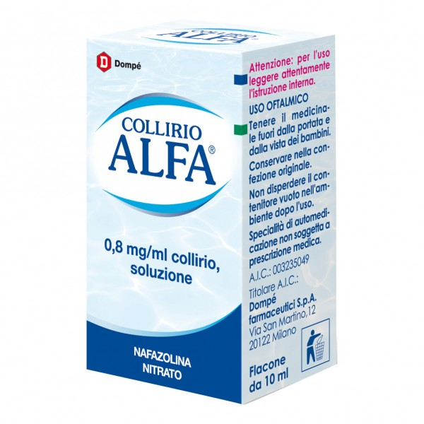 Collirio Alfa Gocce Oculari 10 ml 0,8mg/ml