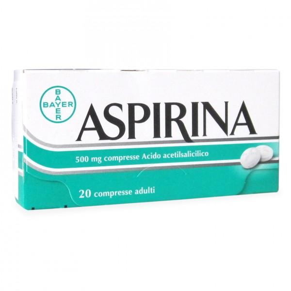 ASPIRINA 20 Compresse Adulti 500 mg