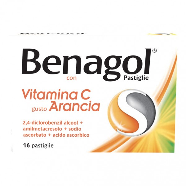 Benagol 16 Pastiglie Arancia con Vitamin...