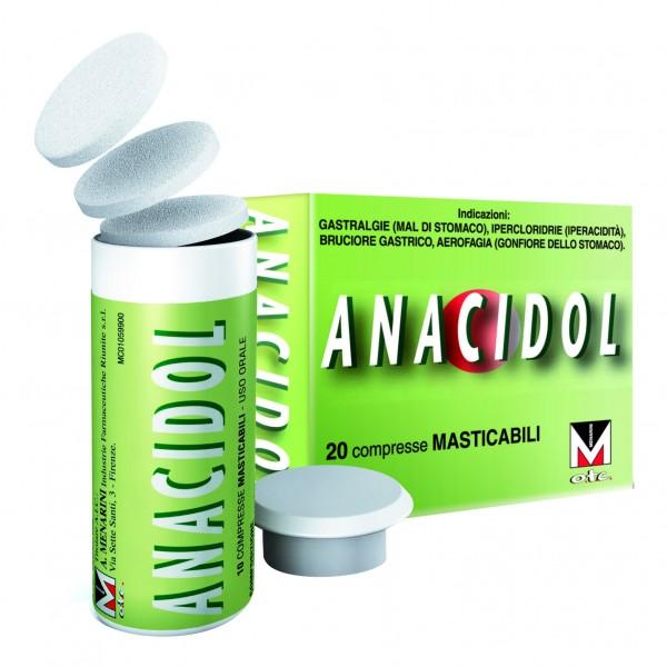 ANACIDOL 20 Cpr Mast.Tubo