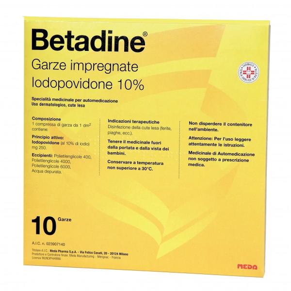Betadine*10garze Impregn 10x10