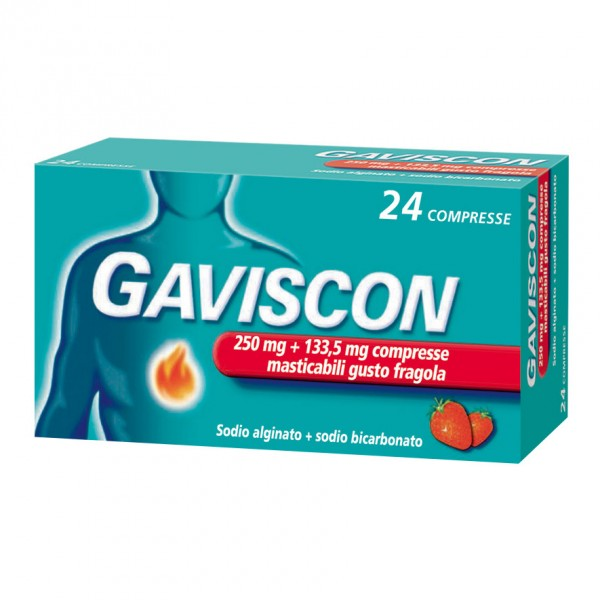 Gaviscon 24 Compresse Gusto Fragola 250m...