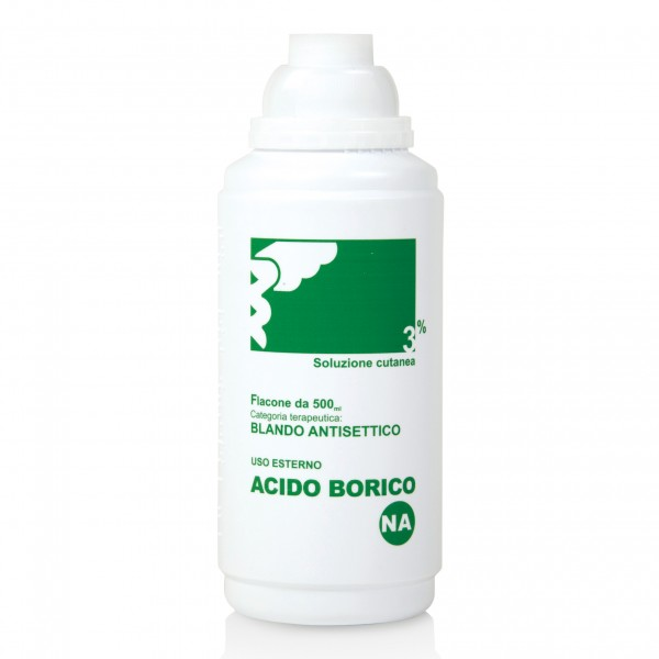 ACIDO Borico Sol.3% 500ml N.A.